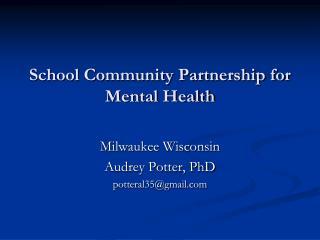 School Community Partnership for Mental Health