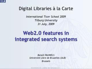 Web2.0  features  in  integrated search systems