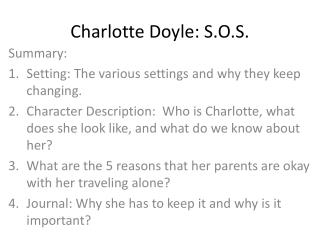 Charlotte Doyle: S.O.S.