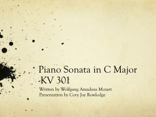 Piano Sonata in C Major -KV 301