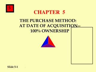 THE PURCHASE METHOD: AT DATE OF ACQUISITION-- 100 OWNERSHIP
