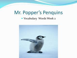 Mr. Popper's  Penquins