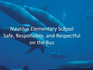 Nautilus Elementary School Safe, Responsible, and Respectful on the Bus