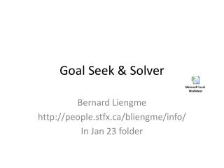 Goal Seek & Solver
