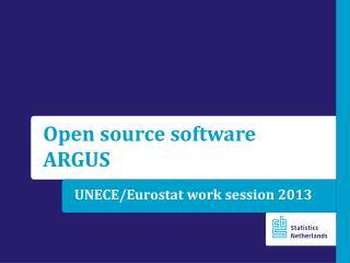 UNECE/ Eurostat work session  2013
