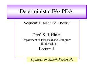 Deterministic FA