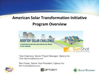American Solar Transformation Initiative Program Overview