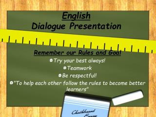 English Dialogue Presentation