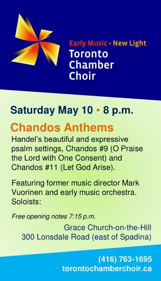 Saturday  May 10   8 p.m.