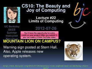 Mountain lion on campus?