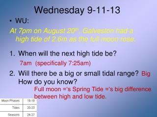 Wednesday 9-11-13