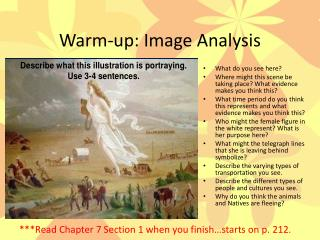Warm-up: Image Analysis