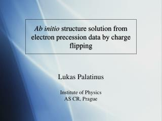 Ab initio  structure solution from electron precession data by charge flipping