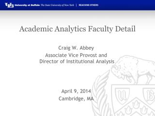 Academic Analytics Faculty Detail
