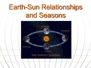 Earth-Sun  Relationships and Seasons