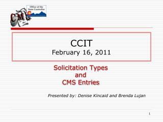 CCIT February 16, 2011