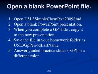 Open a blank PowerPoint file.