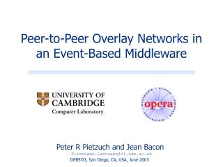 Peer-to-Peer Overlay Networks