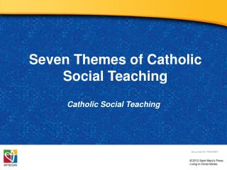 Seven Themes of Catholic Social Teaching