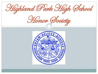 Highland Park High School Honor Society