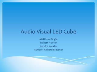 Audio Visual LED Cube