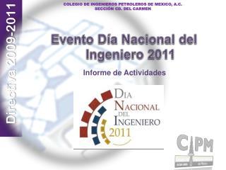 Evento Día Nacional del Ingeniero  2011