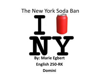 The New York Soda Ban