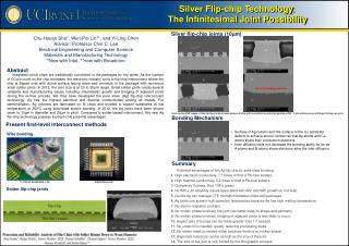 Silver Flip-chip Technology : The Infinitesimal Joint Possibility