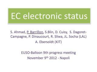 EC  electronic status