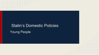 Stalin's Domestic Policies