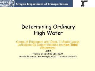 Determining Ordinary High Water