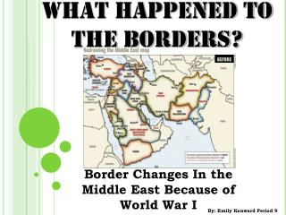 WHAT HAPPENED TO THE BORDERS?