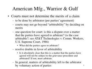 American Mfg., Warrior  Gulf