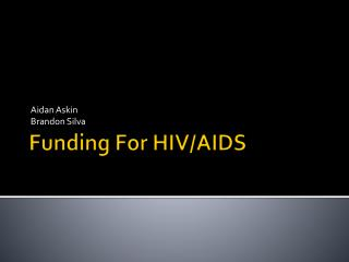 Funding For HIV/AIDS