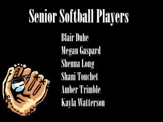 Senior Softball Players