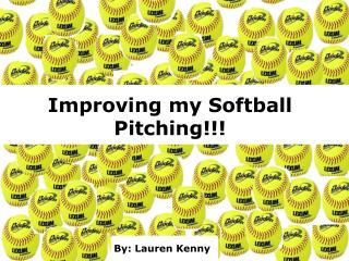 Improving my Softball Pitching!!!