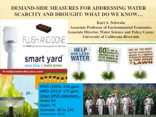 Demand-Side Measures for Addressing water scarcity and Drought: What do we know…