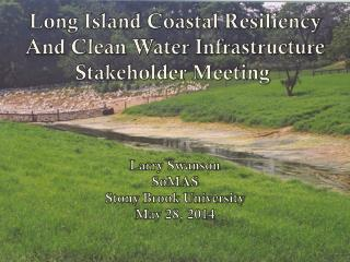 Long Island Coastal Resiliency And Clean Water Infrastructure Stakeholder Meeting  Larry Swanson