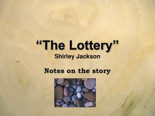 the sacrifices for the society in the lottery by shirley jackson Shirley jackson's insights and observations about man and society are  in order  for their crop to be abundant for the year, some individual had to be sacrificed.