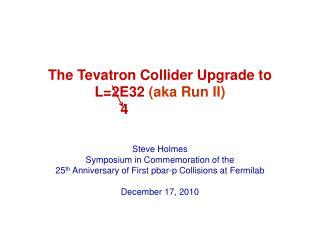 The  Tevatron  Collider Upgrade to L=2E32  (aka Run II)
