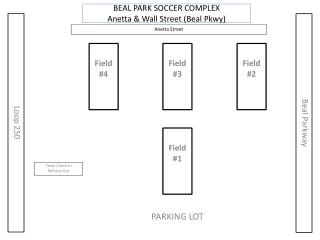 BEAL PARK SOCCER COMPLEX Anetta  & Wall Street (Beal Pkwy)