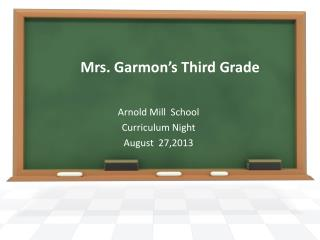 Mrs. Garmon's Third Grade