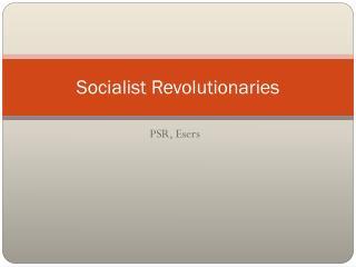 Socialist Revolutionaries