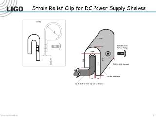 Strain Relief Clip for DC Power Supply Shelves