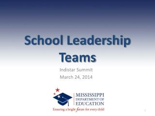 School Leadership Teams