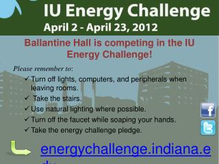 Ballantine Hall is competing in the IU Energy Challenge!