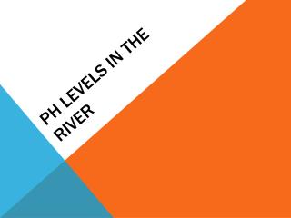 PH levels in the river