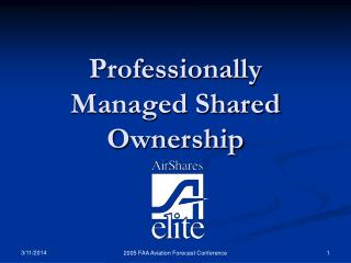 Professionally Managed Shared Ownership