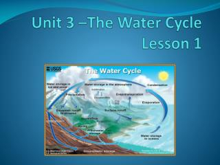 Unit 3 �The Water Cycle Lesson 1