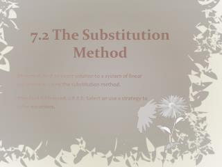 7.2 The Substitution Method